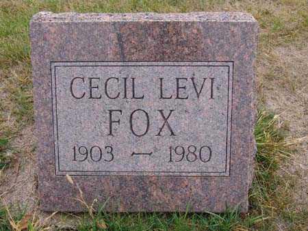 FOX, CECIL LEVI - Warren County, Iowa | CECIL LEVI FOX