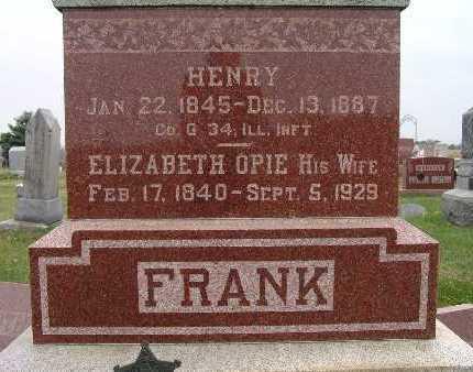 OPIE FRANK, ELIZABETH - Warren County, Iowa | ELIZABETH OPIE FRANK