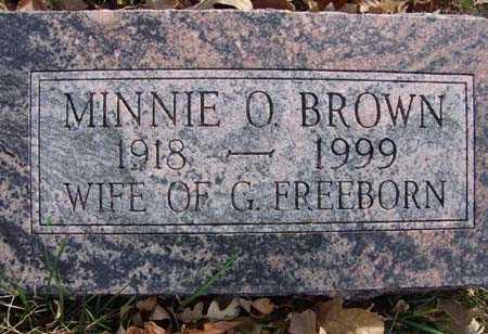 FREEBORN, MINNIE O BROWN - Warren County, Iowa | MINNIE O BROWN FREEBORN
