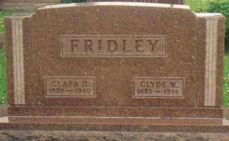 FRIDLEY, CLARA O. - Warren County, Iowa | CLARA O. FRIDLEY