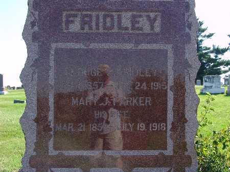 PARKER FRIDLEY, MARY J - Warren County, Iowa | MARY J PARKER FRIDLEY