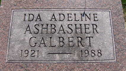 GALBERT, IDA ADELINE - Warren County, Iowa | IDA ADELINE GALBERT