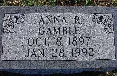 GAMBLE, ANNA R. - Warren County, Iowa   ANNA R. GAMBLE