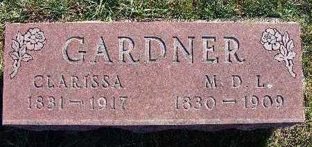 COX GARDNER, CLARISSA - Warren County, Iowa   CLARISSA COX GARDNER