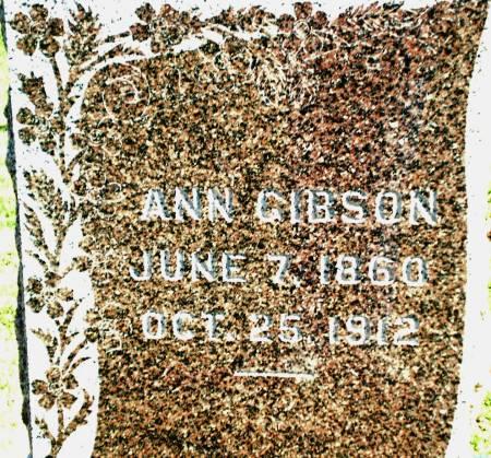GIBSON, ANN - Warren County, Iowa | ANN GIBSON