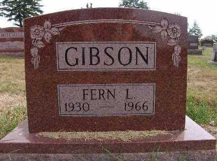 GIBSON, FERN L. - Warren County, Iowa   FERN L. GIBSON