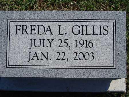GILLIS, FREDA L - Warren County, Iowa | FREDA L GILLIS