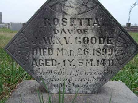 GOODE, ROSETTA - Warren County, Iowa | ROSETTA GOODE