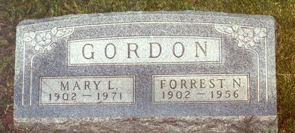 GORDON, MARY L. - Warren County, Iowa | MARY L. GORDON