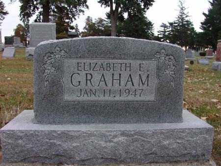 GRAHAM, ELIZABETH E. - Warren County, Iowa   ELIZABETH E. GRAHAM