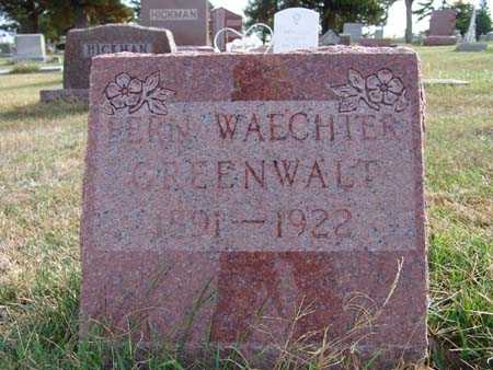 GREENWALT, FERN WAECHTER - Warren County, Iowa   FERN WAECHTER GREENWALT