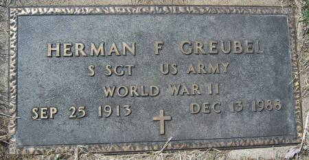 GREUBEL, HERMAN F. - Warren County, Iowa   HERMAN F. GREUBEL