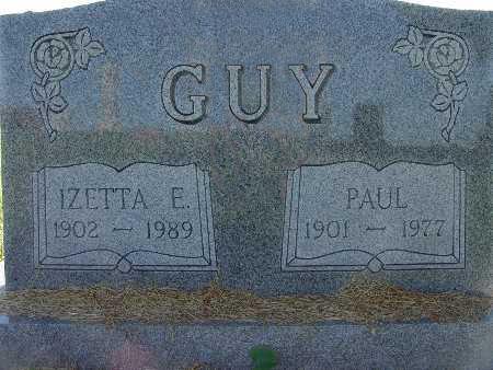 GUY, IZETTA E. - Warren County, Iowa | IZETTA E. GUY