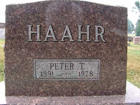 HAAHR, PETER T. - Warren County, Iowa | PETER T. HAAHR