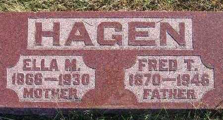 HAGEN, FRED T. - Warren County, Iowa | FRED T. HAGEN