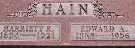 HAIN, EDWARD A - Warren County, Iowa   EDWARD A HAIN
