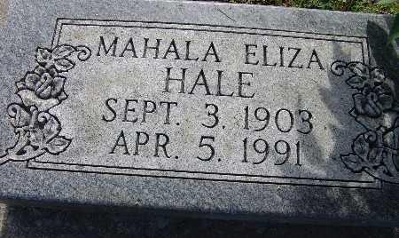HALE, MAHALA ELIZA - Warren County, Iowa | MAHALA ELIZA HALE