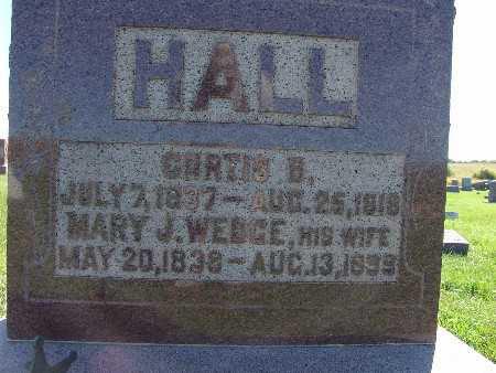 HALL, MARY J. WEDGE - Warren County, Iowa | MARY J. WEDGE HALL