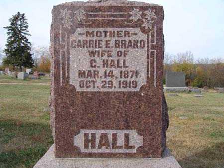 HALL, CARRIE E. BRAND - Warren County, Iowa   CARRIE E. BRAND HALL