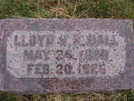 HALL, LLOYD S. R. - Warren County, Iowa   LLOYD S. R. HALL