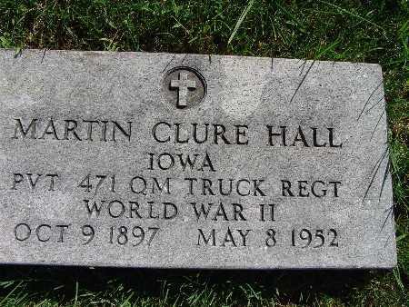 HALL, MARTIN CLURE - Warren County, Iowa   MARTIN CLURE HALL