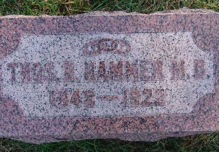 HAMMER, THOS B. - Warren County, Iowa | THOS B. HAMMER