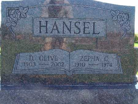 HANSEL, D OLIVE - Warren County, Iowa | D OLIVE HANSEL