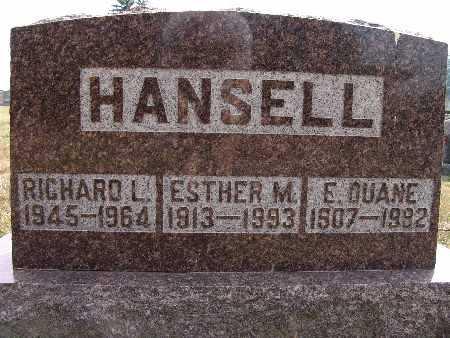 HANSELL, ESTHER M. - Warren County, Iowa | ESTHER M. HANSELL