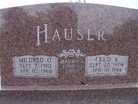 HAUSER, MILDRED O. - Warren County, Iowa | MILDRED O. HAUSER