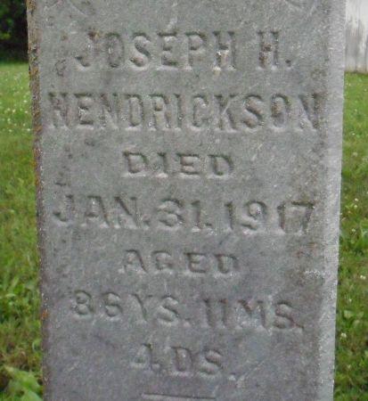 HENDRICKSON, JOSEPH H. - Warren County, Iowa   JOSEPH H. HENDRICKSON