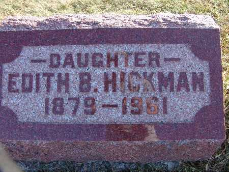 HICKMAN, EDITH B. - Warren County, Iowa   EDITH B. HICKMAN