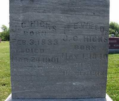 HICKS, M. E. - Warren County, Iowa   M. E. HICKS