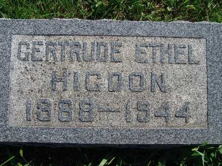 HIGDON, GERTRUDE ETHEL - Warren County, Iowa | GERTRUDE ETHEL HIGDON
