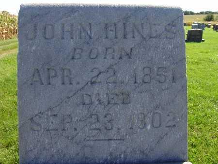 HINES, JOHN - Warren County, Iowa | JOHN HINES