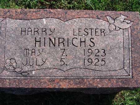 HINRICHS, HARRY LESTER - Warren County, Iowa | HARRY LESTER HINRICHS