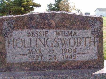 HOLLINGSWORTH, BESSIE WILMA - Warren County, Iowa | BESSIE WILMA HOLLINGSWORTH
