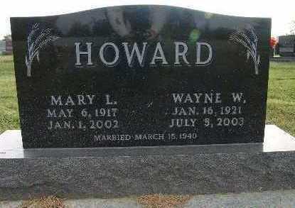 HOWARD, MARY L. - Warren County, Iowa   MARY L. HOWARD