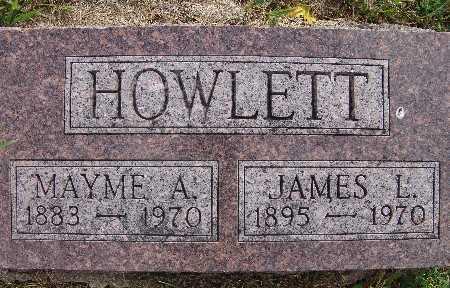 HOWLETT, MAYME A. - Warren County, Iowa | MAYME A. HOWLETT