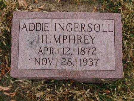 HUMPHREY, ADDIE INGERSOLL - Warren County, Iowa | ADDIE INGERSOLL HUMPHREY