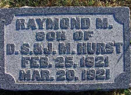 HURST, RAYMOND M. - Warren County, Iowa   RAYMOND M. HURST