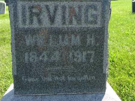 IRVING, WILLIAM H - Warren County, Iowa   WILLIAM H IRVING