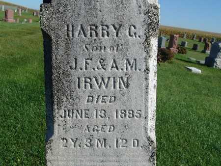 IRWIN, HARRY G. - Warren County, Iowa   HARRY G. IRWIN
