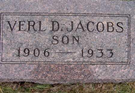 JACOBS, VERL D. - Warren County, Iowa   VERL D. JACOBS