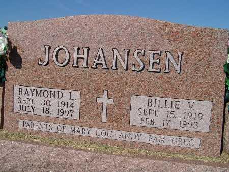 JOHANSEN, BILLIE V. - Warren County, Iowa   BILLIE V. JOHANSEN