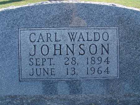 JOHNSON, CARL WALDO - Warren County, Iowa | CARL WALDO JOHNSON