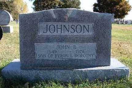 JOHNSON, JOHN B. - Warren County, Iowa | JOHN B. JOHNSON