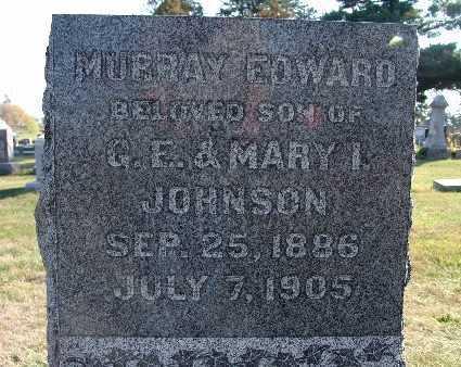 JOHNSON, MURRAY EDWARD - Warren County, Iowa | MURRAY EDWARD JOHNSON