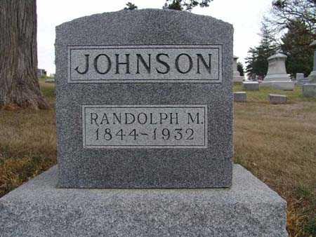 JOHNSON, RANDOLPH M. - Warren County, Iowa   RANDOLPH M. JOHNSON