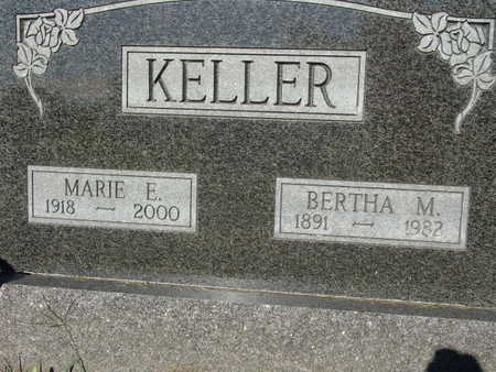 KELLER, BERTHA M. - Warren County, Iowa   BERTHA M. KELLER