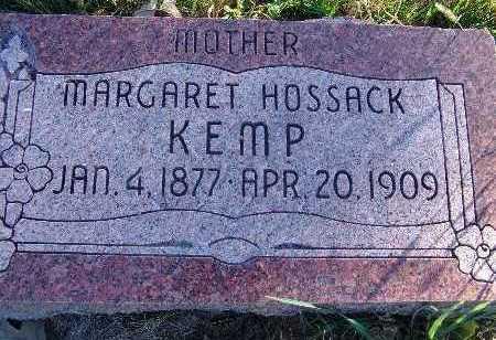KEMP, MARGARET HOSSACK - Warren County, Iowa | MARGARET HOSSACK KEMP
